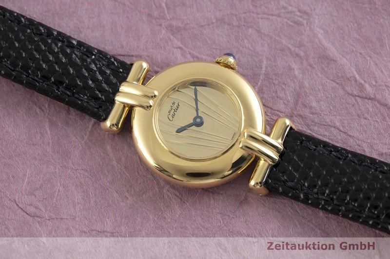 gebrauchte Luxusuhr Cartier Vermeil Silber vergoldet Quarz Kal. 90 Ref. 590002  | 2002950 _1