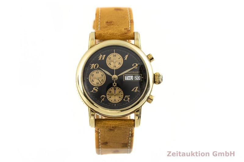 gebrauchte Luxusuhr Montblanc Meisterstück Chronograph 18k Gold Automatik Kal. 4810.501, ETA 7750 Ref. 7000  | 2002967 _1