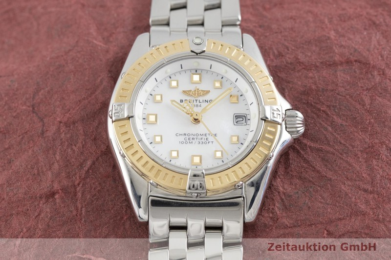 gebrauchte Luxusuhr Breitling Callistino Stahl / Gold Quarz Kal. B72, ETA 956.152 Ref. D72345  | 2002984 _1