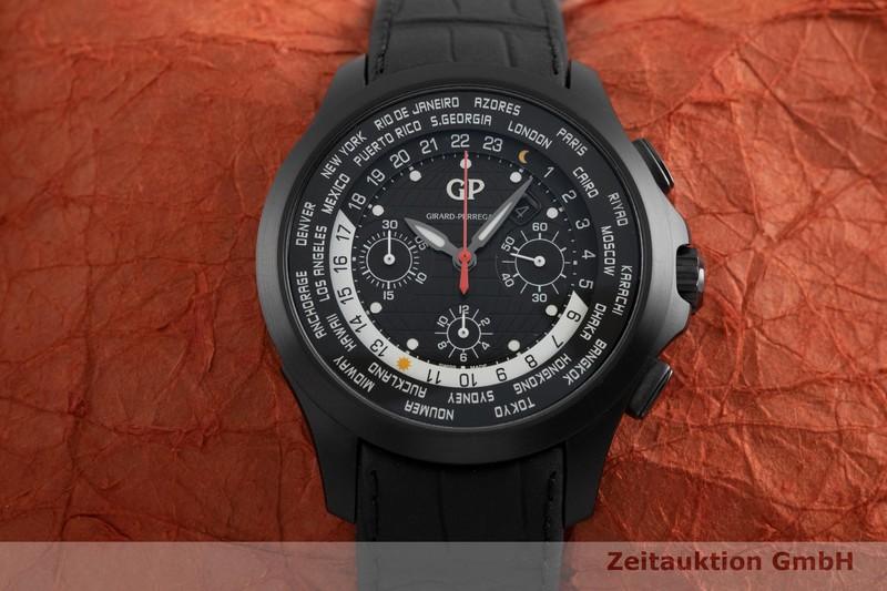 gebrauchte Luxusuhr Girard Perregaux Traveller Chronograph Titan Automatik Kal. 03300-0084 Ref. 49700-21-631-BB6C    2003015 _1