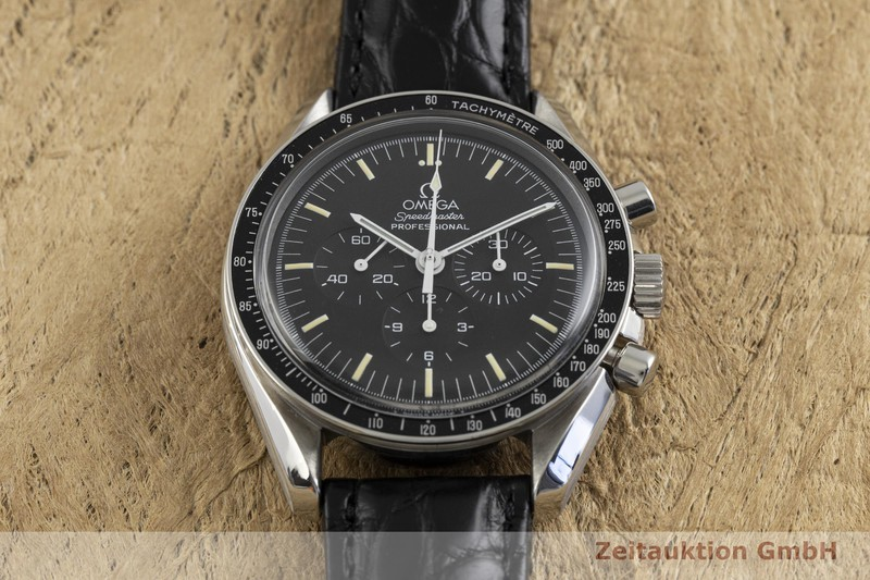 gebrauchte Luxusuhr Omega Speedmaster Moonwatch Chronograph Stahl Handaufzug Kal. 861 Ref. 145.0022, 345.0022    2003025 _1