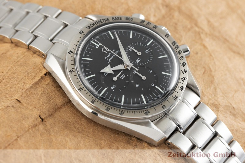 gebrauchte Luxusuhr Omega Speedmaster Moonwatch Chronograph Stahl Handaufzug Kal. 1861 Ref. 145.0222, 345.0222, 35945000  | 2003027 _1