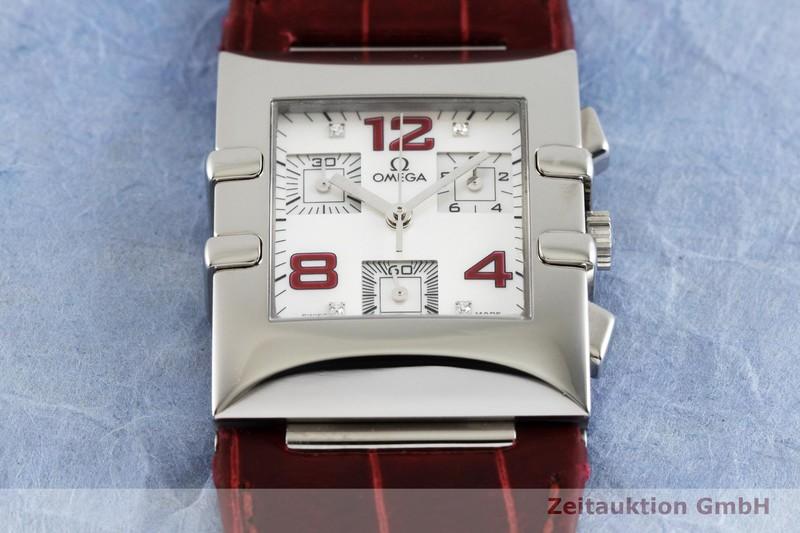 gebrauchte Luxusuhr Omega Constellation Chronograph Stahl Quarz Kal. 5200 Ref. 785.1201    2003030 _1