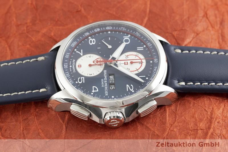 gebrauchte Luxusuhr Baume & Mercier Clifton Chronograph Stahl Automatik Kal. BM137750, ETA 7750 Ref. 65822 LIMITED EDITION | 2003037 _0