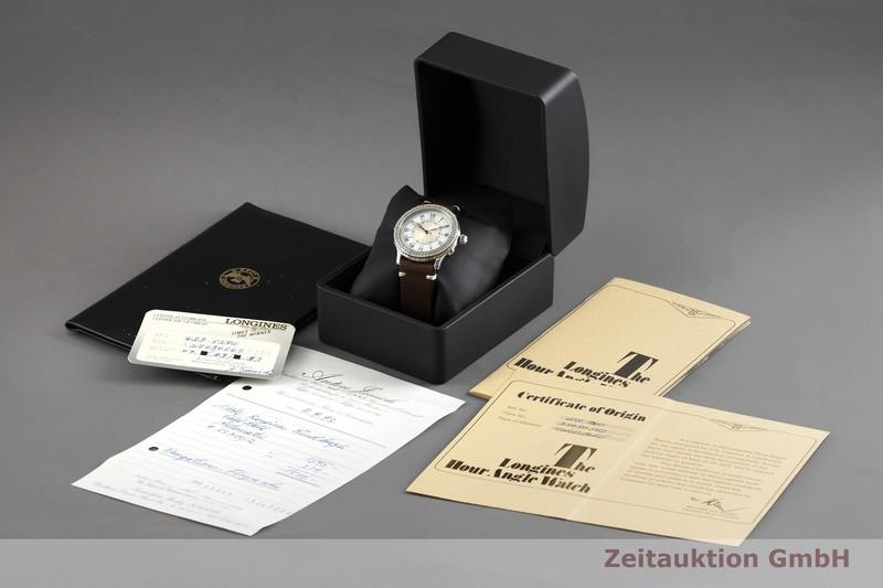 gebrauchte Luxusuhr Longines Lindbergh Stundenwinkel Stahl Automatik Kal. L628.1, ETA 2892-2 Ref. 628.5240    2003038 _0
