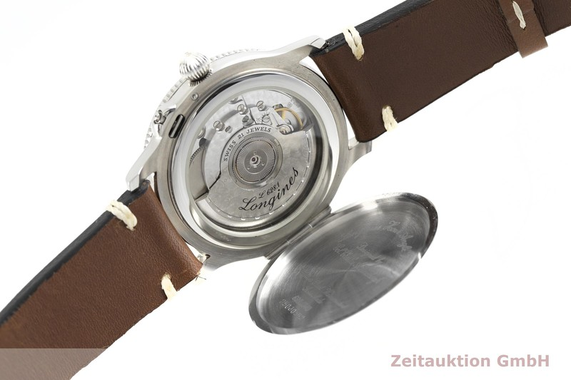 gebrauchte Luxusuhr Longines Lindbergh Stundenwinkel Stahl Automatik Kal. L628.1, ETA 2892-2 Ref. 628.5240    2003038 _1