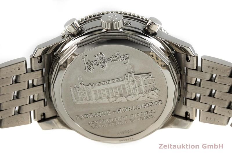 gebrauchte Luxusuhr Breitling Montbrillant Chronograph Stahl Automatik Kal. B19, ETA 2892-A2 Ref. A19350  | 2003052 _0