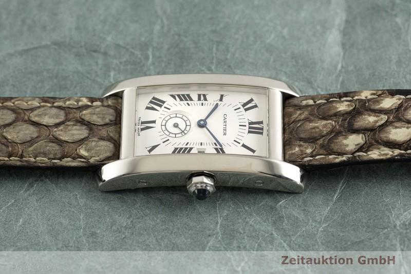 gebrauchte Luxusuhr Cartier Tank Américaine 18k Weissgold Quarz Kal. 012 Ref. 3012905  | 2003105 _0