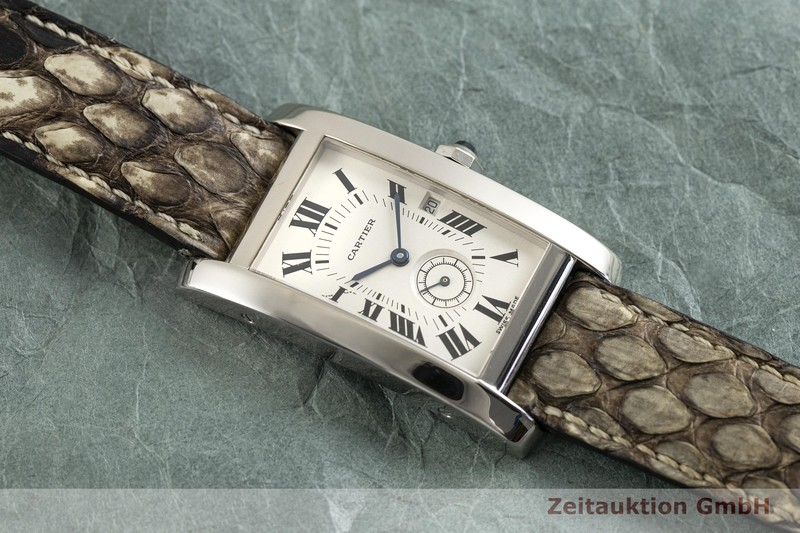 gebrauchte Luxusuhr Cartier Tank Américaine 18k Weissgold Quarz Kal. 012 Ref. 3012905  | 2003105 _1