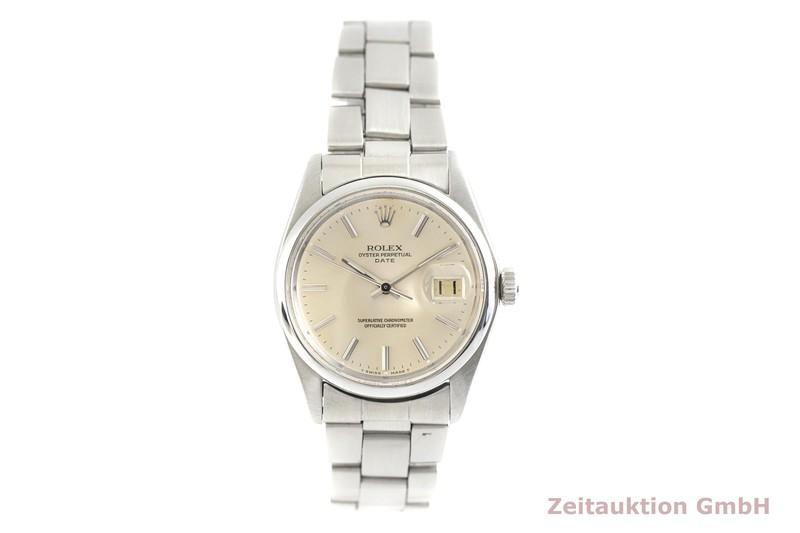gebrauchte Luxusuhr Rolex Date Stahl Automatik Kal. 1570 Ref. 1500 VINTAGE  | 2003203 _1