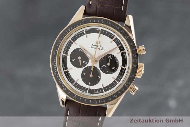 gebrauchte Luxusuhr Omega Speedmaster Chronograph 18k Rotgold Handaufzug Kal. 1861 Ref. 311.63.40.30.02.001  | 2003208 _0