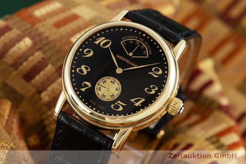 gebrauchte Luxusuhr Montblanc Meisterstück 18k Gold Handaufzug Kal. 4810.901, ETA 7001 Ref. 7007  | 2003274 _1