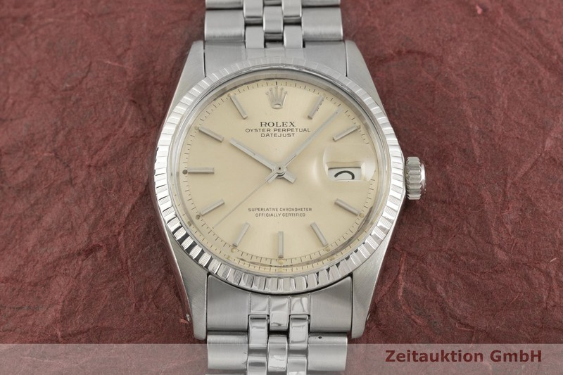 gebrauchte Luxusuhr Rolex Datejust Stahl Automatik Kal. 1570 Ref. 1603 VINTAGE  | 2003331 _1