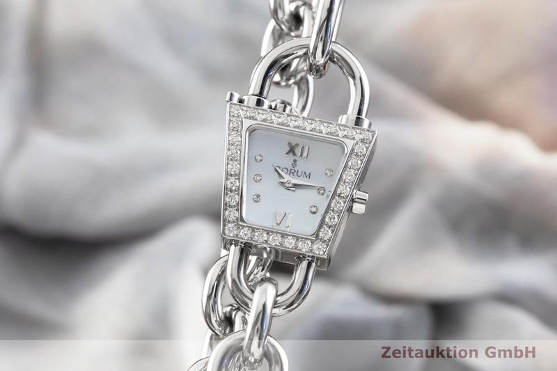 gebrauchte Luxusuhr Corum Padlock Stahl Quarz Kal. ETA E01.001 Ref. 137.414.47  | 2003339 _0