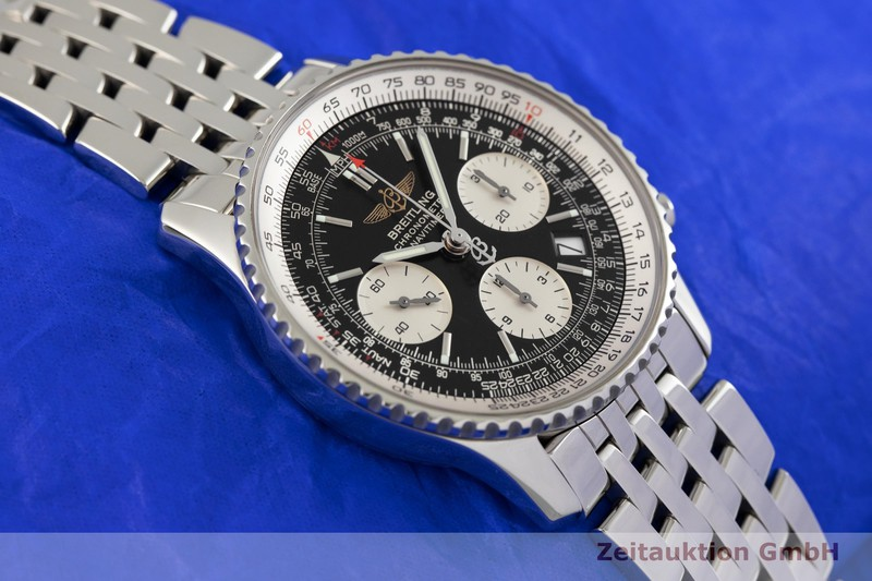 gebrauchte Luxusuhr Breitling Navitimer 01 Chronograph Stahl Automatik Kal. B23, ETA 7753 Ref. A23322  | 2003367 _1