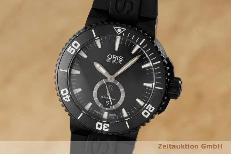 gebrauchte Luxusuhr Oris Aquis Date Titan Automatik Kal. 739, SW 260-1 Ref. 0173976747754-0742634BTE    2003383 _0