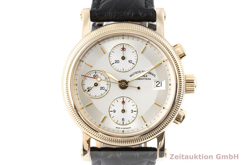 gebrauchte Luxusuhr Mühle Chronograph II Chronograph 18k Gold Automatik Kal. ETA 7750 Ref. M1-34-30  | 2003395 _0