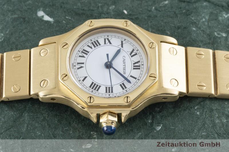 gebrauchte Luxusuhr Cartier Santos Ronde 18k Gold Automatik Kal. ETA 2670    2003418 _0
