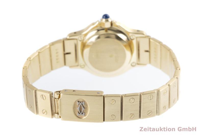 gebrauchte Luxusuhr Cartier Santos Ronde 18k Gold Automatik Kal. ETA 2670    2003418 _1