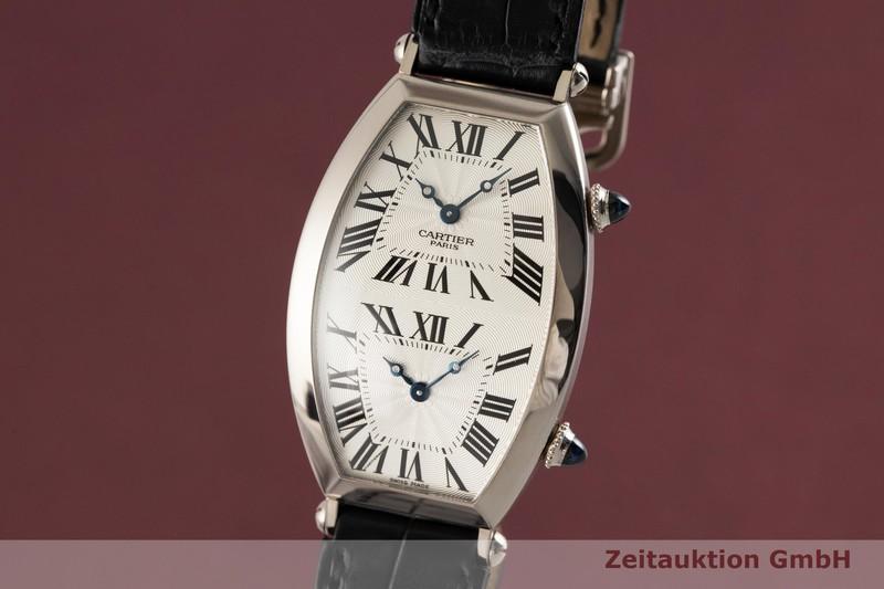 gebrauchte Luxusuhr Cartier Tonneau 18k Weissgold Handaufzug Kal. 9770 MC (2x) Ref. 2806  | 2003420 _0