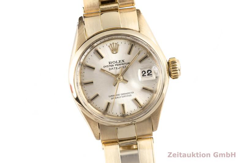 gebrauchte Luxusuhr Rolex Lady Datejust 18k Gold Automatik Kal. 1161 Ref. 6516  | 2003421 _0
