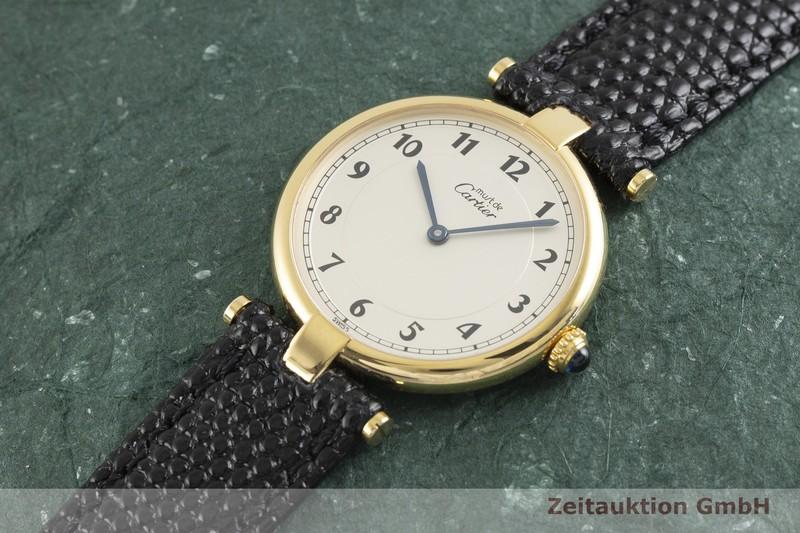 gebrauchte Luxusuhr Cartier Vermeil Silber vergoldet Quarz Kal. 90 Ref. 590003  | 2003494 _0