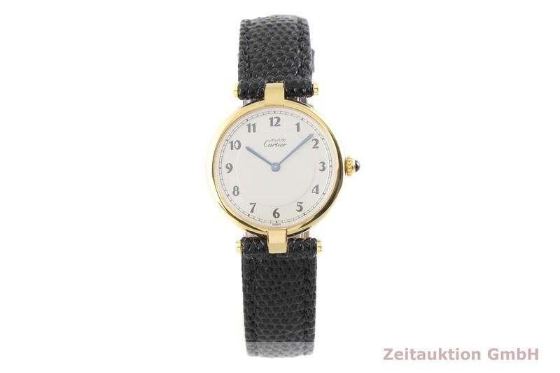 gebrauchte Luxusuhr Cartier Vermeil Silber vergoldet Quarz Kal. 90 Ref. 590003  | 2003494 _1