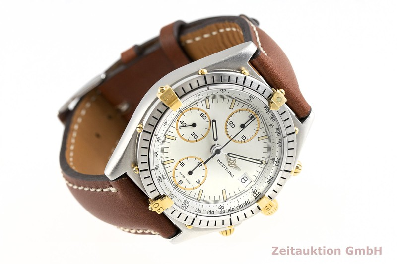 gebrauchte Luxusuhr Breitling Chronomat Chronograph Stahl / Gold Automatik Kal. Valjoux 7750 Ref. 81950    2003495 _0