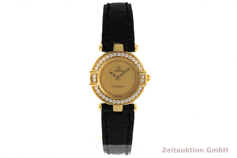 gebrauchte Luxusuhr Omega Constellation 18k Gold Quarz Kal. 1455, ETA 976.001 Ref. 695.1080  | 2003502 _1