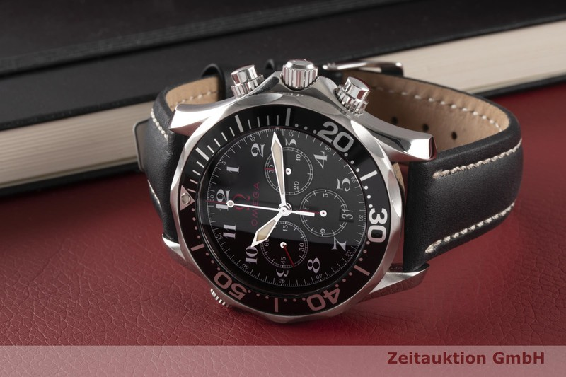 gebrauchte Luxusuhr Omega Seamaster Chronograph Stahl Automatik Kal. 3303 Ref. 2894.51.91  | 2003504 _0