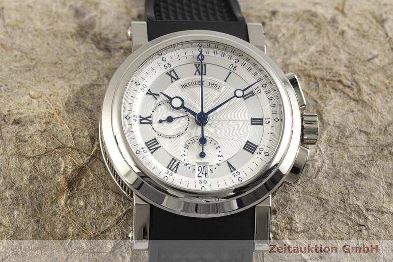 gebrauchte Luxusuhr Breguet Marine Chronograph 18k Weissgold Automatik Kal. 5830/1 Ref. 5827    2003622 _1