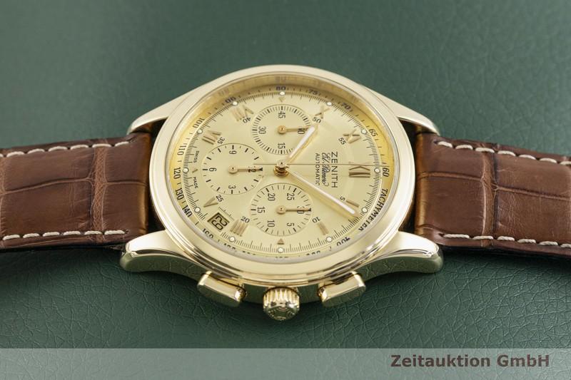 gebrauchte Luxusuhr Zenith El Primero Chronograph 18k Gold Automatik Kal. 4002 Ref. 30.0500.400  | 2003630 _0