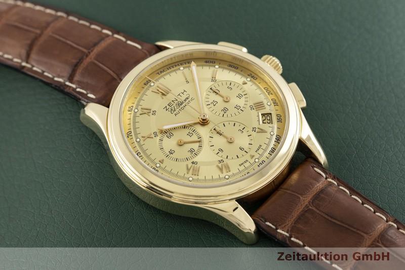 gebrauchte Luxusuhr Zenith El Primero Chronograph 18k Gold Automatik Kal. 4002 Ref. 30.0500.400  | 2003630 _1