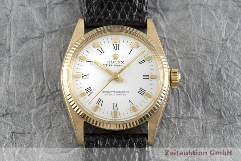 gebrauchte Luxusuhr Rolex Oyster Perpetual 18k Gold Automatik Kal. 2030 Ref. 6751 VINTAGE  | 2003635 _1