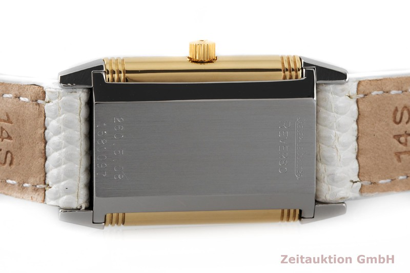 gebrauchte Luxusuhr Jaeger LeCoultre Reverso Stahl / Gold Quarz Kal. 608 Ref. 260.5.08  | 2003642 _0