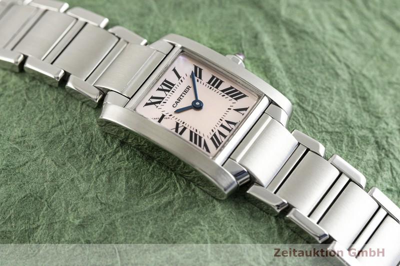 gebrauchte Luxusuhr Cartier Tank Francaise Stahl Quarz Kal. 057 Ref. 2384    2003698 _1