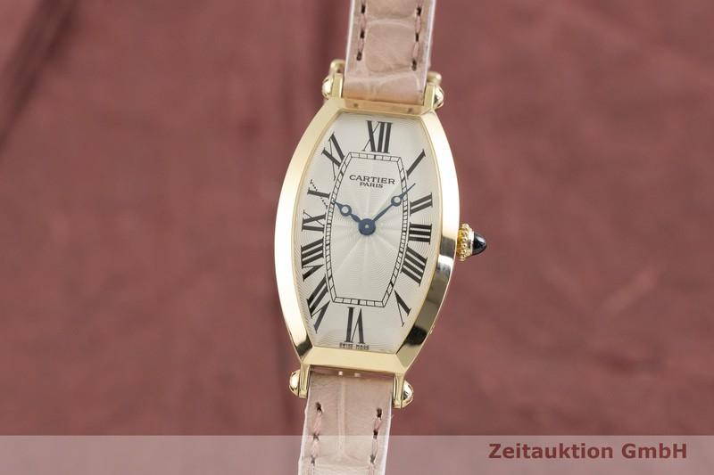 gebrauchte Luxusuhr Cartier Tonneau 18k Gold Handaufzug Kal. 060 MC Ref. 2595E  | 2003705 _0