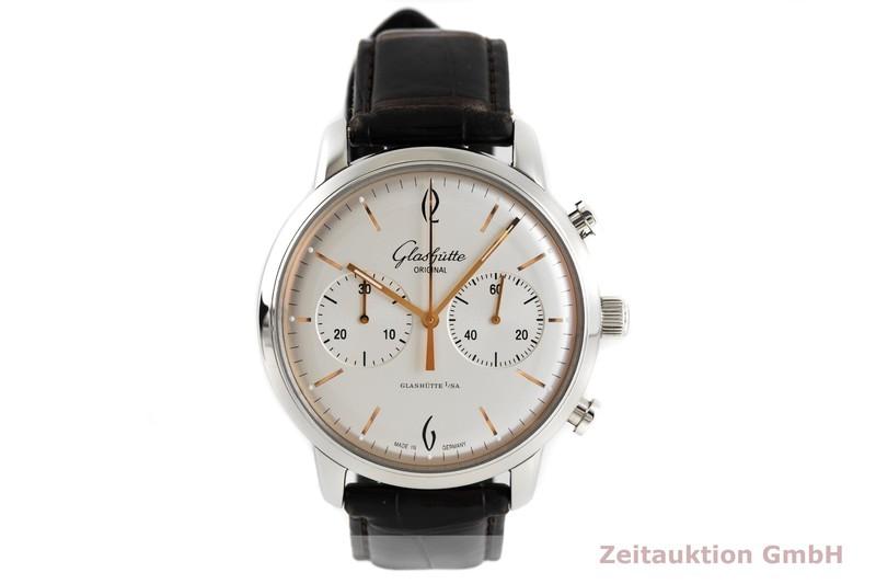 gebrauchte Luxusuhr Glashütte Senator Sixties Chronograph Stahl Automatik Kal. 39 Ref. 1-39-34-03-22-04    2003790 _1