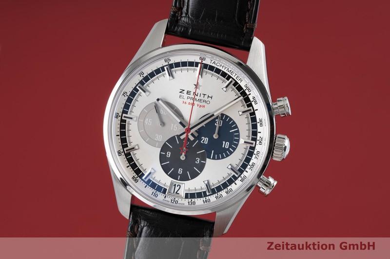 gebrauchte Luxusuhr Zenith El Primero Chronograph Stahl Automatik Kal. 400 Ref. 03.2040.400    2003803 _0