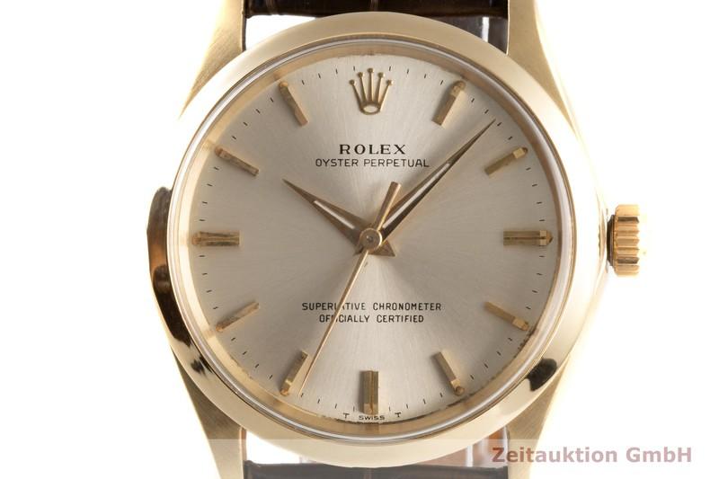 gebrauchte Luxusuhr Rolex Oyster Perpetual 14k Gelbgold Automatik Kal. 1560 Ref. 1005 VINTAGE  | 2003806 _0