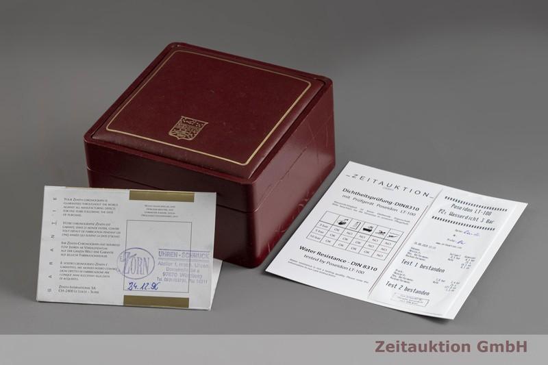 gebrauchte Luxusuhr Zenith El Primero Chronograph 18k Gold Automatik Kal. 410 Ref. 14/30.0240.410  | 2003830 _0
