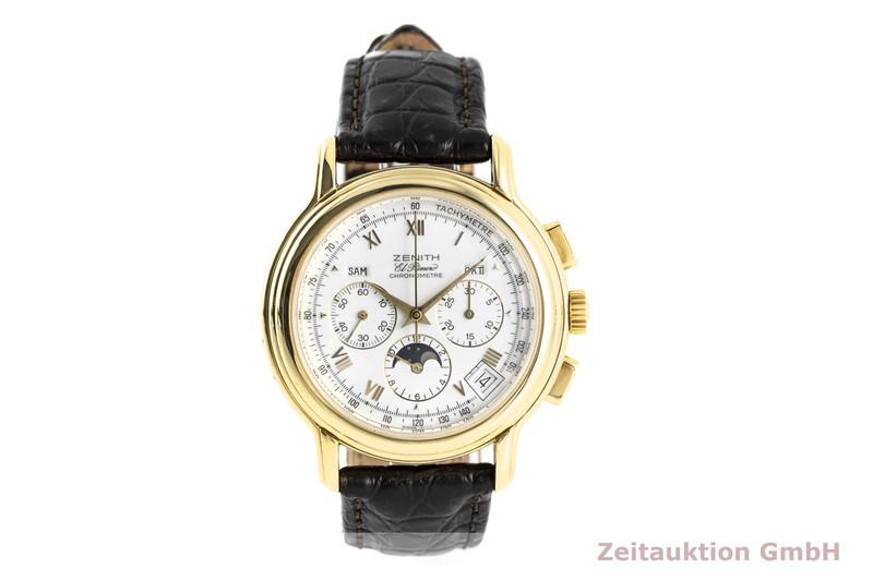 gebrauchte Luxusuhr Zenith El Primero Chronograph 18k Gold Automatik Kal. 410 Ref. 14/30.0240.410  | 2003830 _1