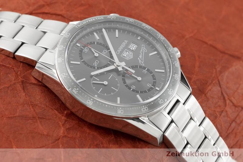gebrauchte Luxusuhr Tag Heuer Carrera Chronograph Stahl Automatik Kal. 16, ETA 7750 Ref. CV201.C LIMITED EDITION | 2003868 _1