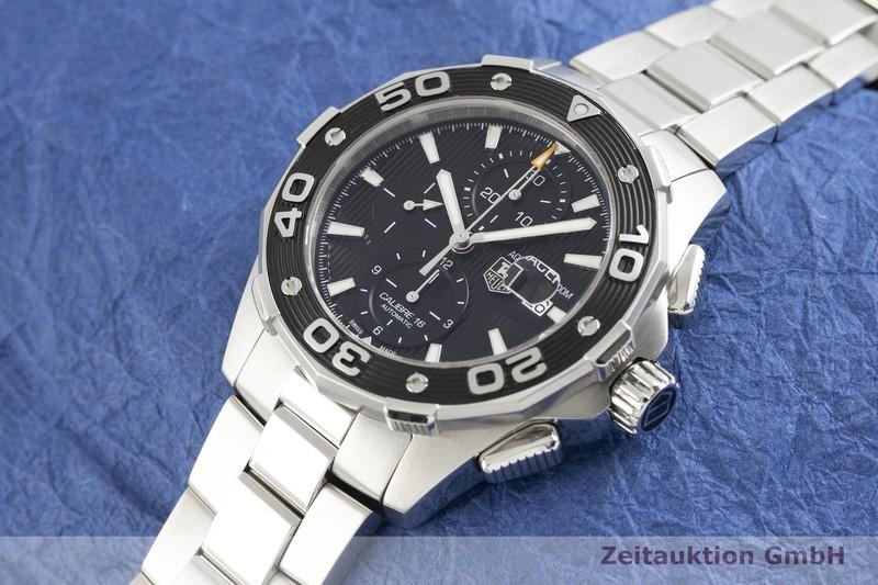 gebrauchte Luxusuhr Tag Heuer Aquaracer Chronograph Stahl Automatik Kal. 16 Ref. CAJ2110    2003879 _0