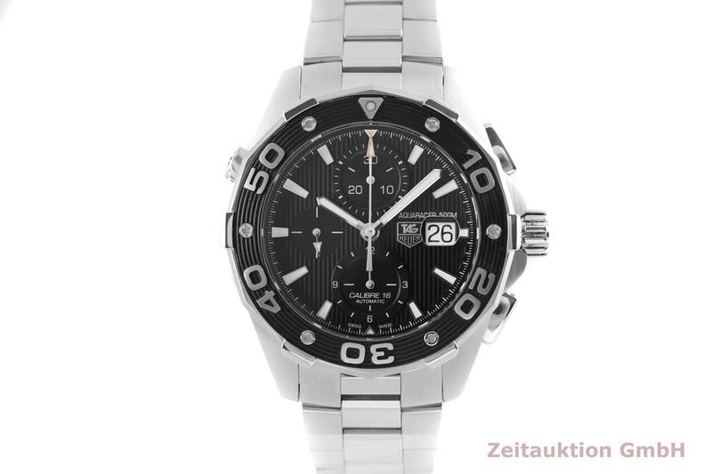 gebrauchte Luxusuhr Tag Heuer Aquaracer Chronograph Stahl Automatik Kal. 16 Ref. CAJ2110    2003879 _1
