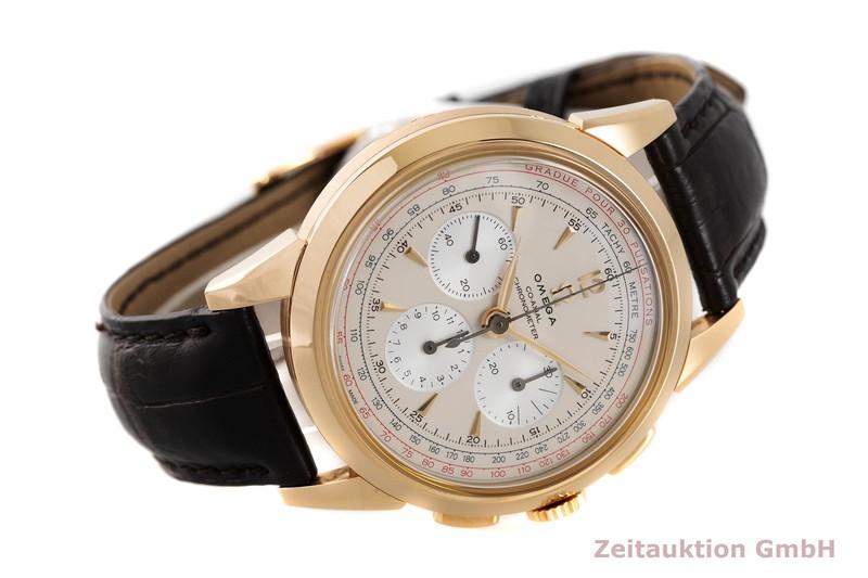 gebrauchte Luxusuhr Omega Museum Chronograph 18k Gold Handaufzug Kal. 3201A Ref. 147.2008, 516.53.39.50.02.001 LIMITED EDITION | 2003942 _0