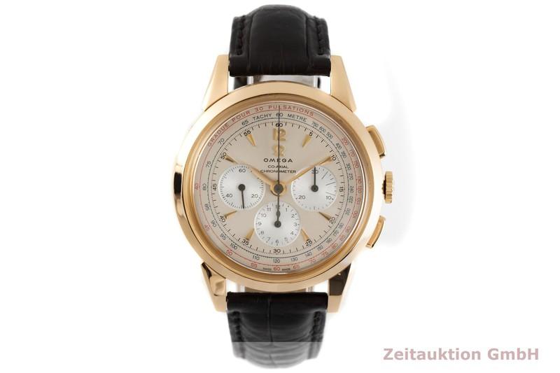 gebrauchte Luxusuhr Omega Museum Chronograph 18k Gold Handaufzug Kal. 3201A Ref. 147.2008, 516.53.39.50.02.001 LIMITED EDITION | 2003942 _1