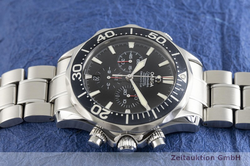 gebrauchte Luxusuhr Omega Seamaster Chronograph Stahl Automatik Kal. 3303A Ref. 25945000, 178.0515  | 2003990 _0
