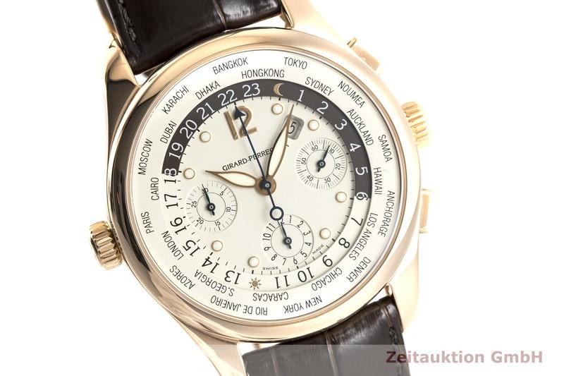 gebrauchte Luxusuhr Girard Perregaux World Time Chronograph 18k Rotgold Automatik Ref. 4980  | 2004031 _0