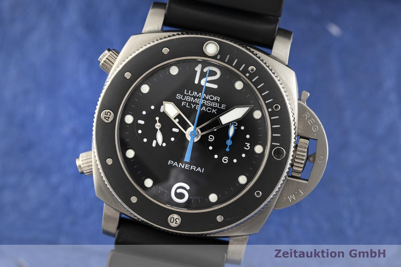 gebrauchte Luxusuhr Panerai Luminor Submersible Chronograph Titan Automatik Kal. P.9100 Ref. PAM00615, OP7025 LIMITED EDITION | 2004051 _0